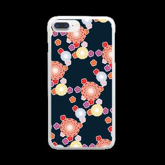 陽向の和柄 Clear smartphone cases