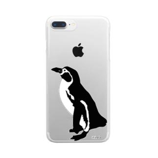 ペンギン  クリアスマートフォンケース