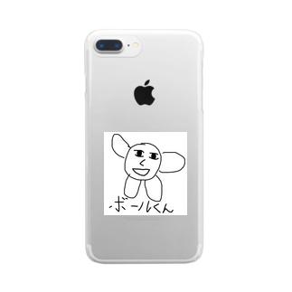 ボール君ケース Clear smartphone cases