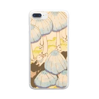 きのこのこみち Clear smartphone cases