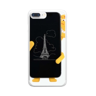 車 スマートフォンキリン可愛いスマホホルダー 動物車載ホルダー Clear smartphone cases