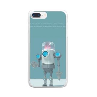 VoxelArt-ROBOT- Clear smartphone cases