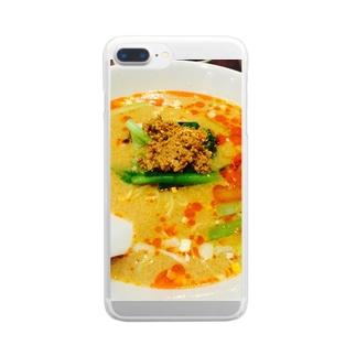 担々麺 Clear smartphone cases