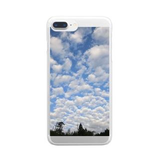 ひつじたち Clear smartphone cases