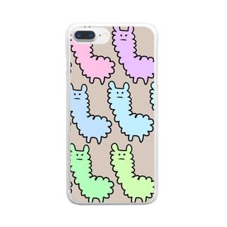 アルパカぱかぱかちょっとオカピ Clear smartphone cases