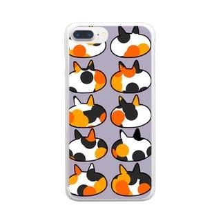 三毛猫 Clear smartphone cases