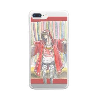 ゆうれいスマホケース Clear smartphone cases