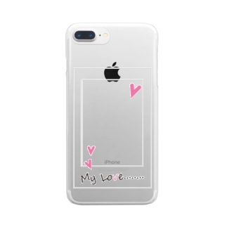 My Love  pink Clear smartphone cases