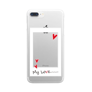 My Love  red Clear smartphone cases