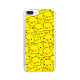 ひよこみっちり Clear smartphone cases
