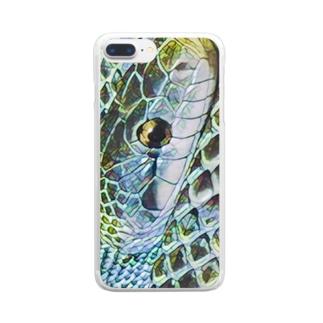 mege-蛇 クリアスマートフォンケース