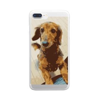 愛犬コナン Clear smartphone cases