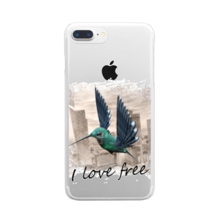 I love free Clear smartphone cases