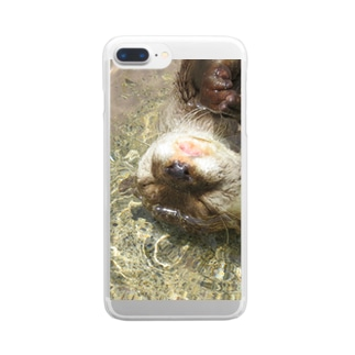 ぷかぷかカワウソちゃん Clear smartphone cases