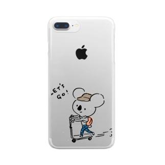 コアラくん Clear smartphone cases