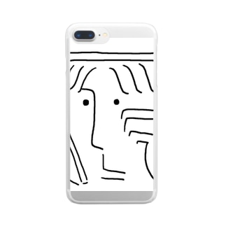 しろいくん Clear smartphone cases