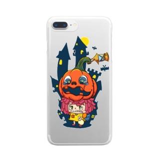 ハロウィン×ハロウィン Clear smartphone cases