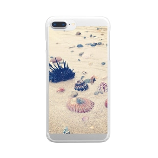 海の宝石 Clear smartphone cases