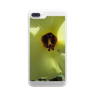 イエロー!! Clear smartphone cases