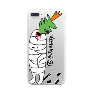 クリスマスモンスター Clear smartphone cases