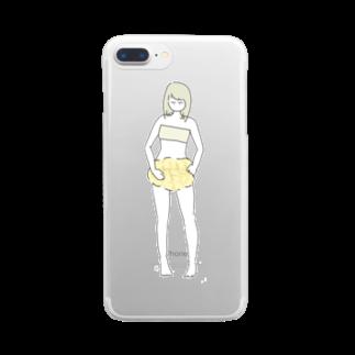 週末のメロンパンつ Clear smartphone cases