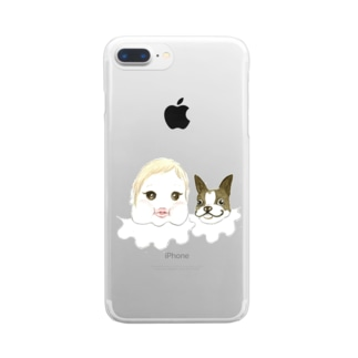 まぶだち Clear smartphone cases