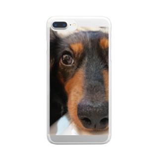 我が子のアップ Clear smartphone cases