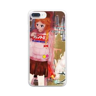くれ556 Clear smartphone cases