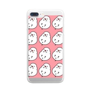 白文鳥ぱたーん Clear smartphone cases