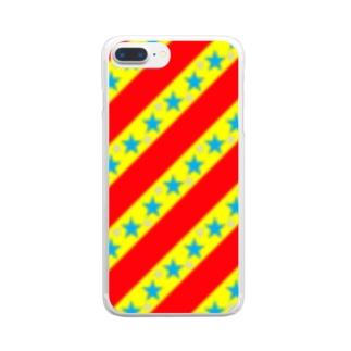 カラフル☆スター☆ストライプ Clear Smartphone Case