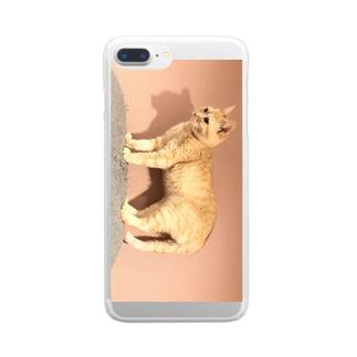 置き物みゅーちゃん Clear smartphone cases