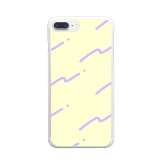 80's風ポップな柄 Clear smartphone cases