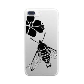 オオスカシバ Clear smartphone cases
