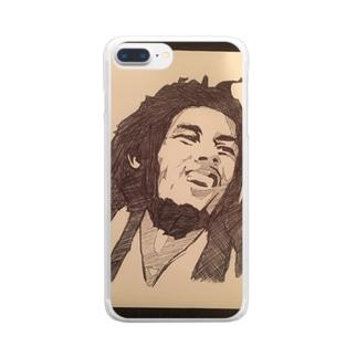 レゲェキング Clear smartphone cases