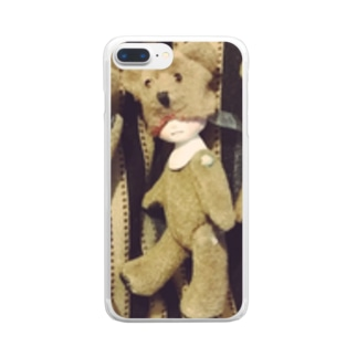 くまくまくま! Clear smartphone cases