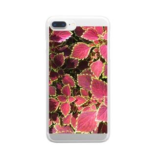 🍁葉っぱ🍁 Clear smartphone cases
