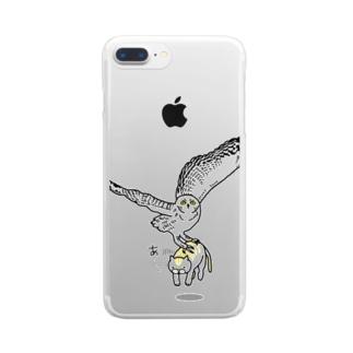 ふくろうとねこ Clear smartphone cases