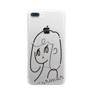murmur girl(むーむーがー) Clear smartphone cases