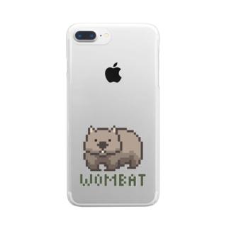 ピクセルウォンバット Clear smartphone cases