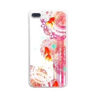 夏空金魚 Clear smartphone cases