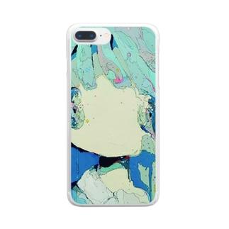 まわらない Clear smartphone cases