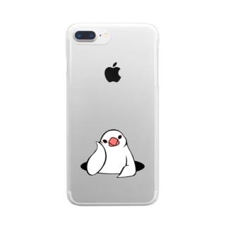 アンニュイ文鳥 Clear smartphone cases