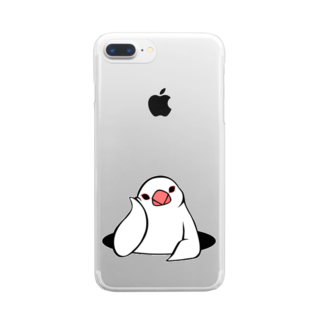 Very berry tasteのアンニュイ文鳥 Clear smartphone cases