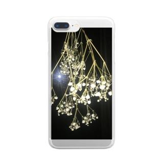 かすみ草 Clear smartphone cases