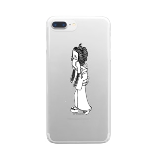 覗き込めば夢の如し Clear smartphone cases