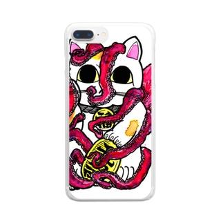 招猫蛸 Clear smartphone cases