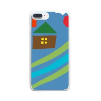 在るいえの絵本 Clear smartphone cases