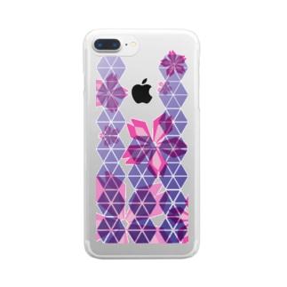 小桜_異心電進 Clear smartphone cases