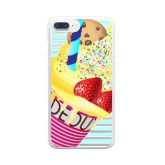 映えT-ice cream Clear smartphone cases