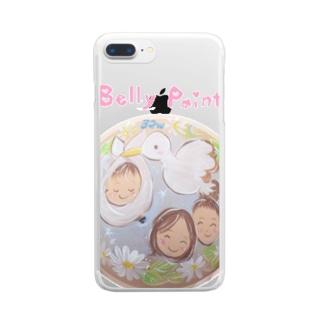 コウノトリと赤ちゃん Clear smartphone cases